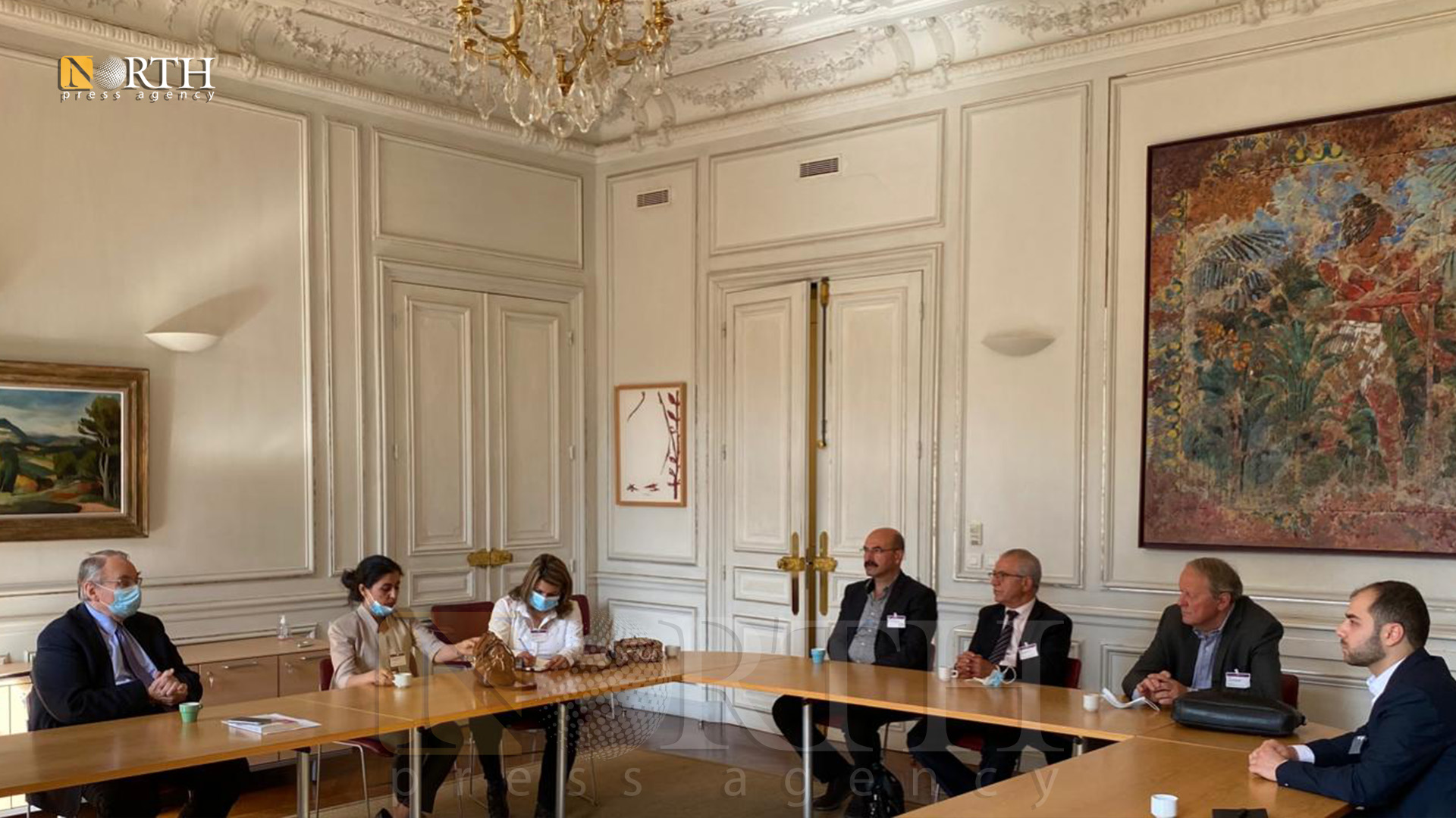 A delegation of the AANES meets with the Head of the Foreign Affairs Committee of the French Parliament in Paris-North Press
