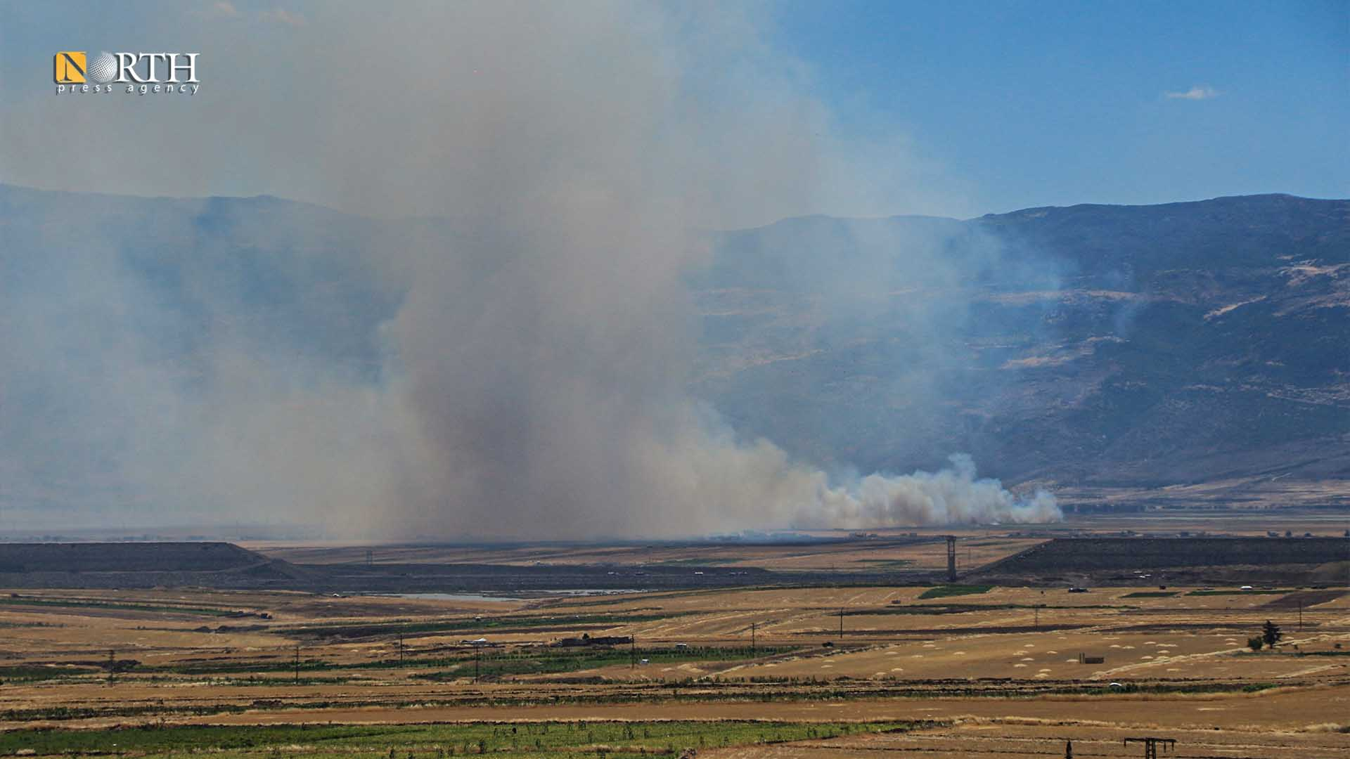 Fires broke out west of Hama due to artillery shelling – North Press/archive