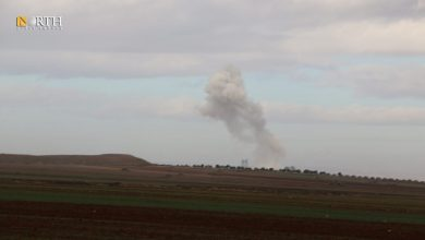 Photo of Syrian government forces bomb camp, positions of opposition groups in Idlib