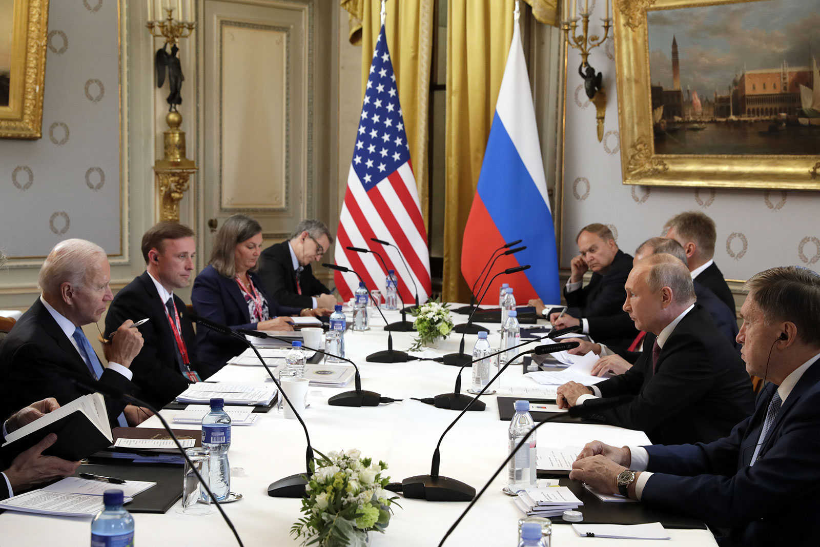 Meeting of the American and Russian delegation in Geneva
