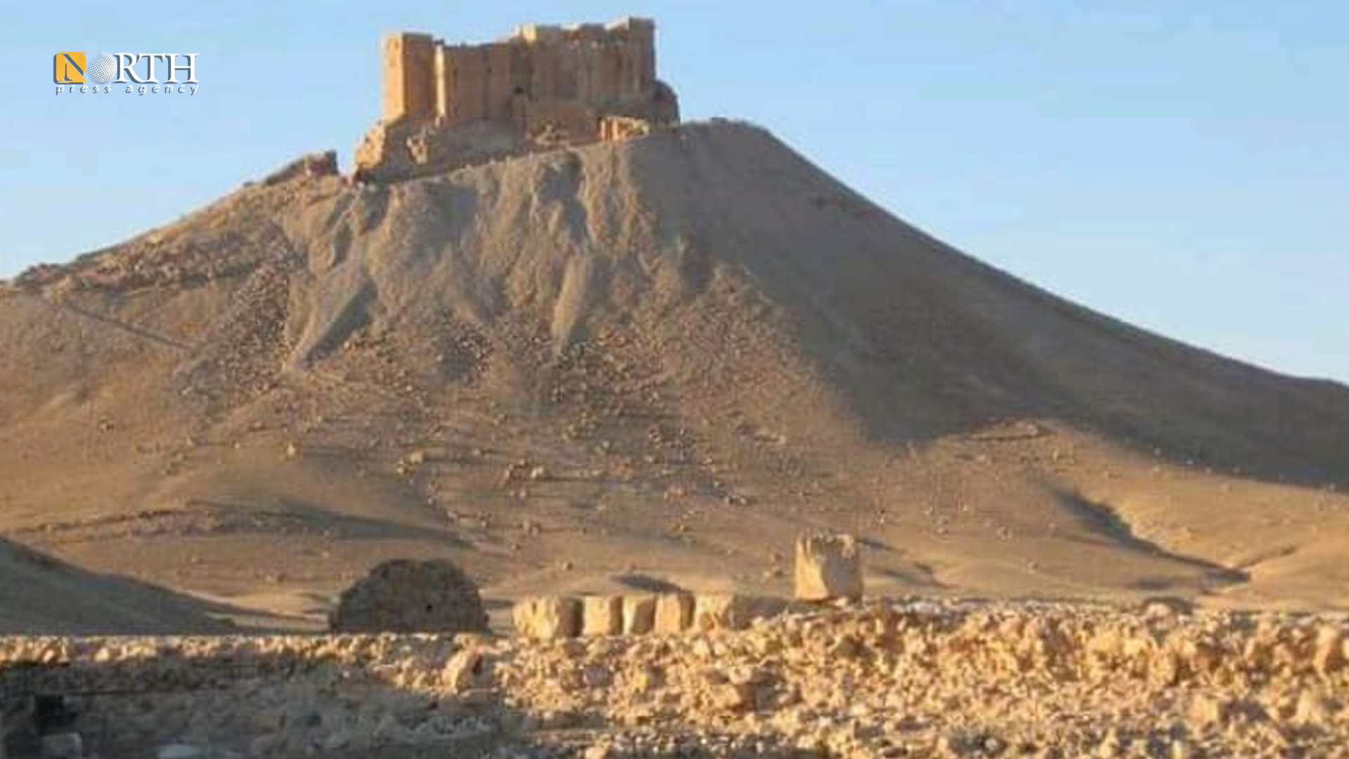 Place of establishing military point next to archaeological site, east of Palmyra – North Press