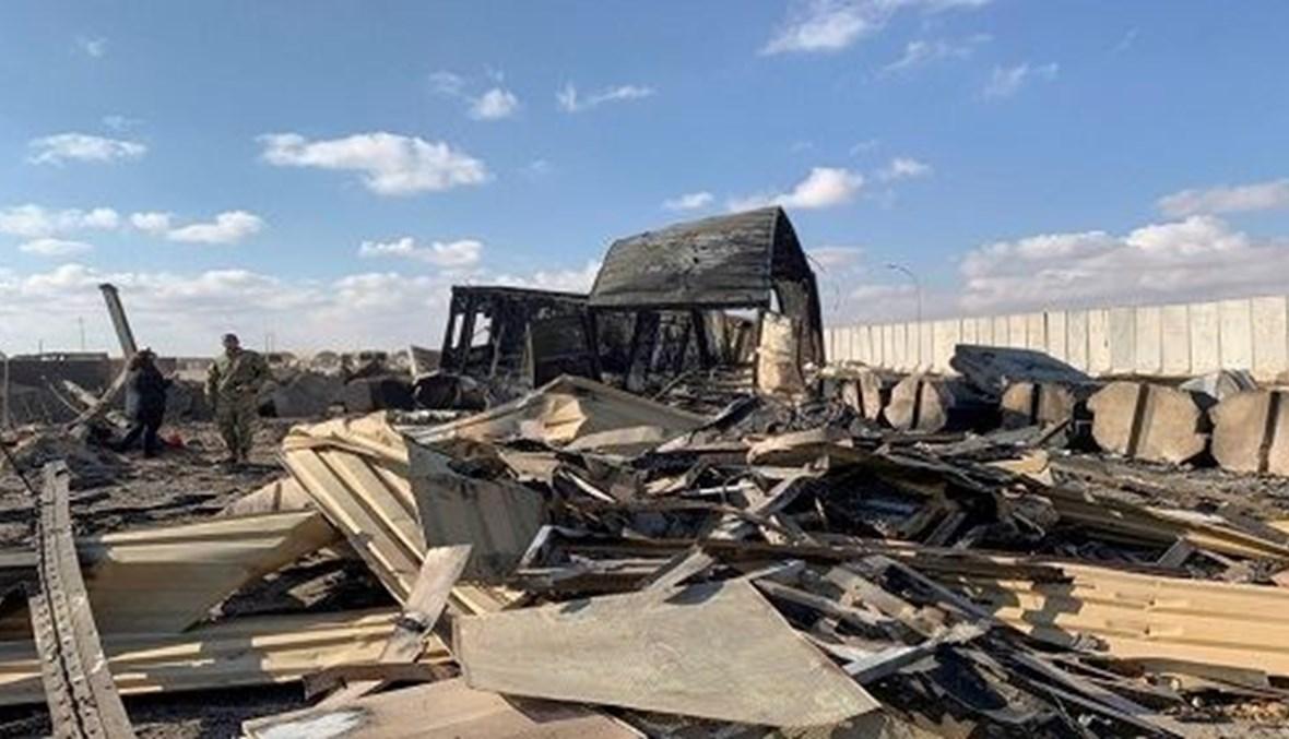 Scenes of the damage in Ain al-Asad air base in Iraq