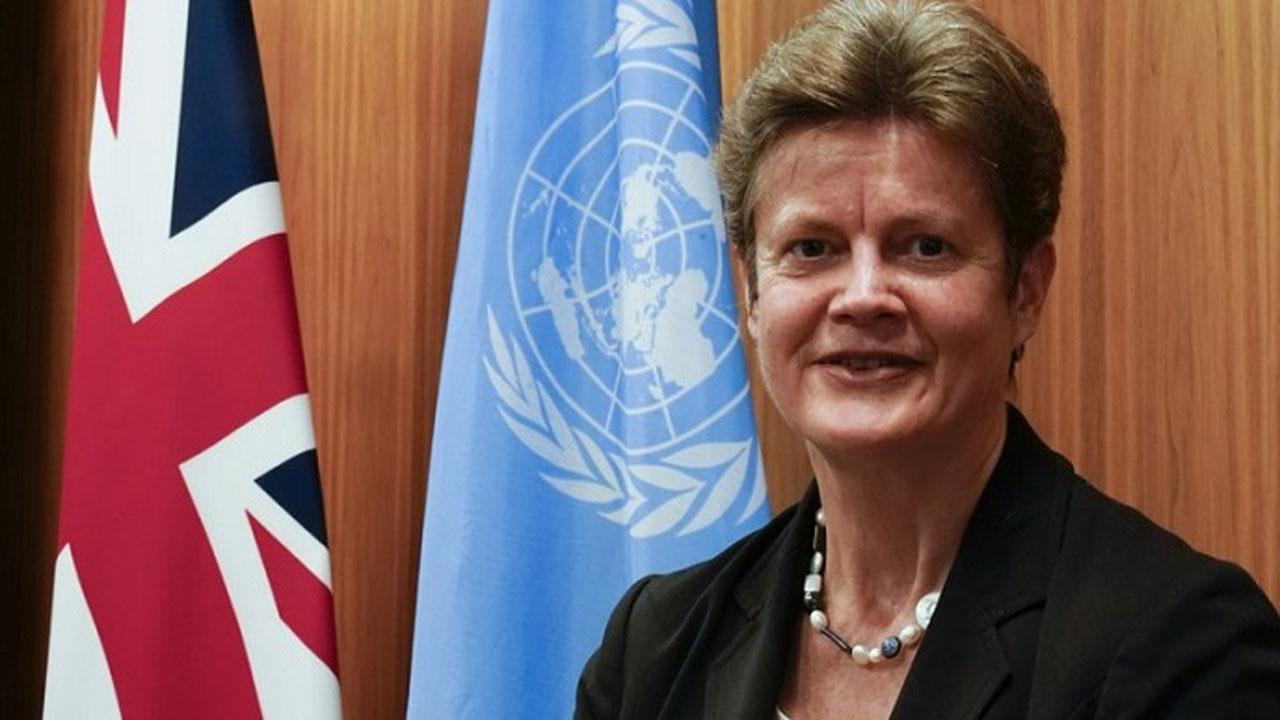 UK permanent ambassador to UN, Barbara Woodward.