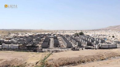 Photo of Tents transformed into cement-block houses in camp in Duhok
