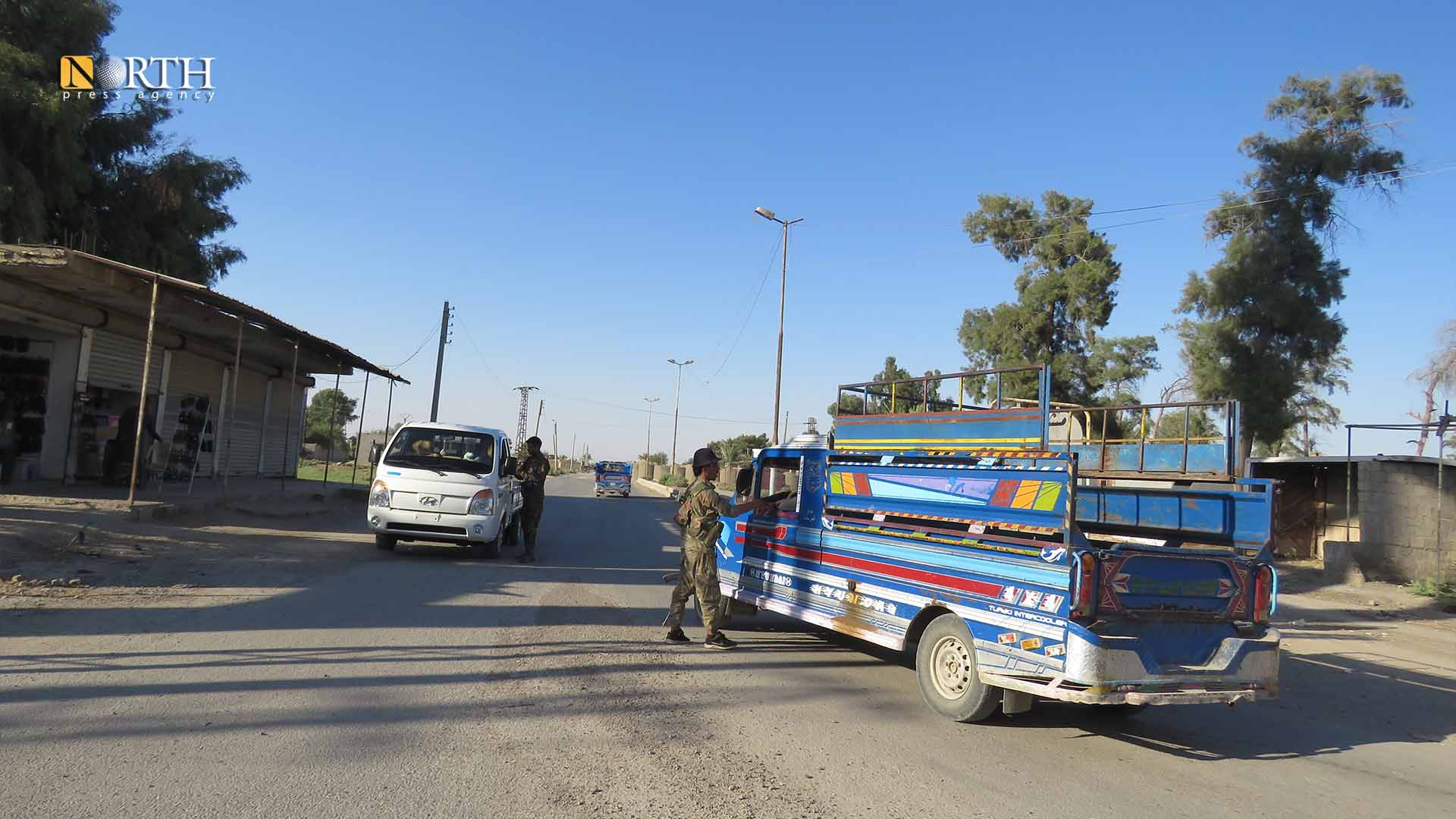 A checkpoint of Syrian Democratic Forces in the town of al-Sabha, east Deir ez-Zor – North Press.