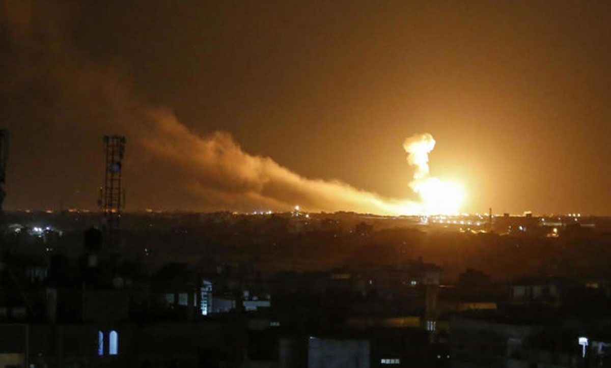 An Israeli airstrike on Syria – Internet.