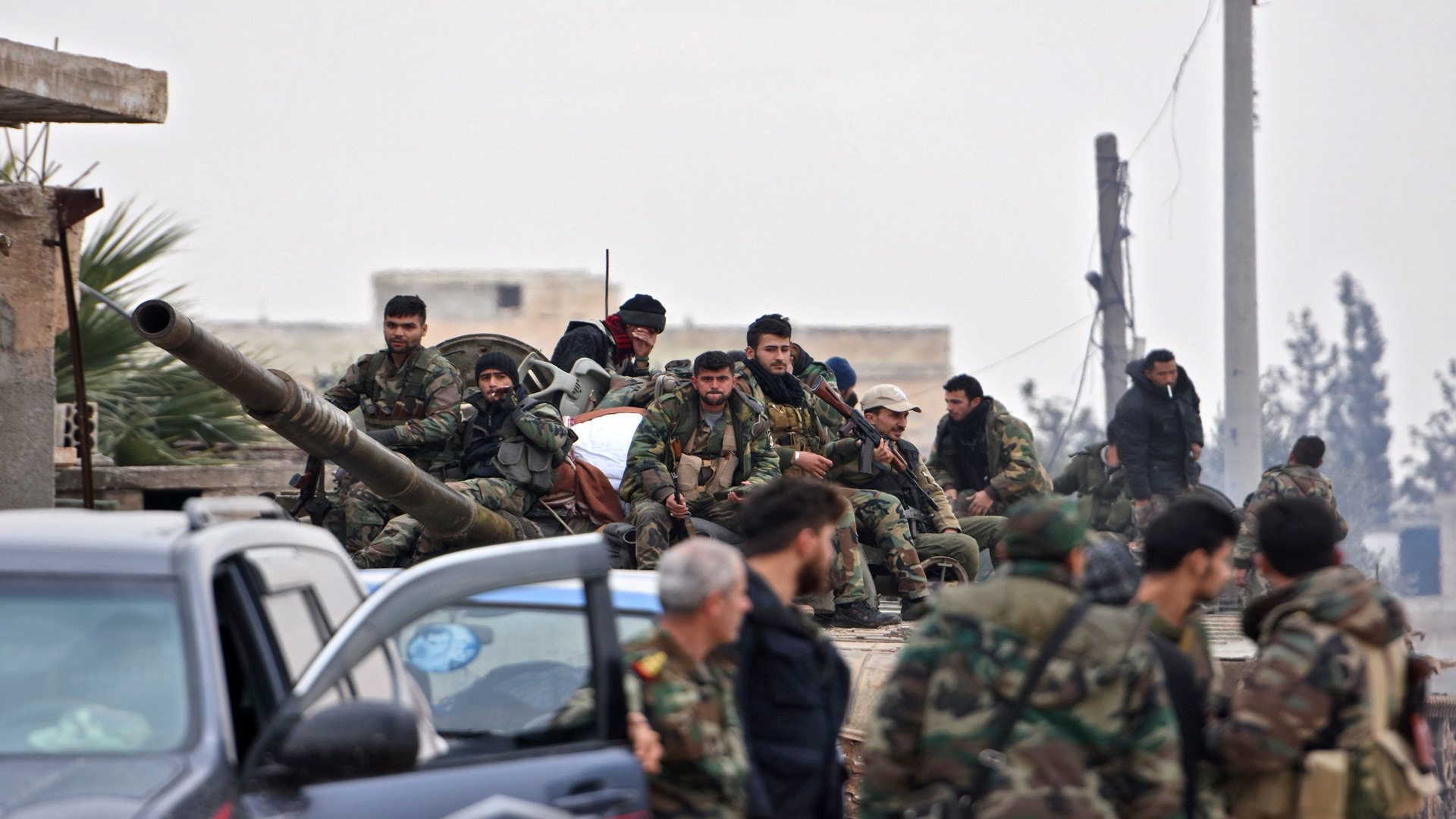 Members of the Syrian government forces - AFP via (Getty Images)