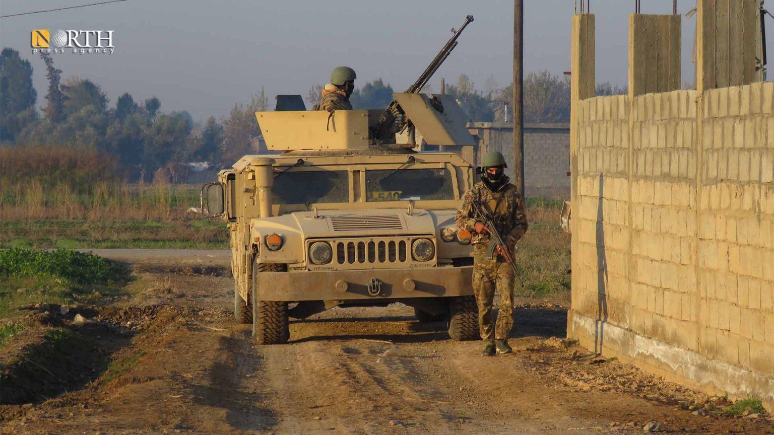 SDF patrol in al-Shuhail town, east of Deir ez-Zor – North Press/archive