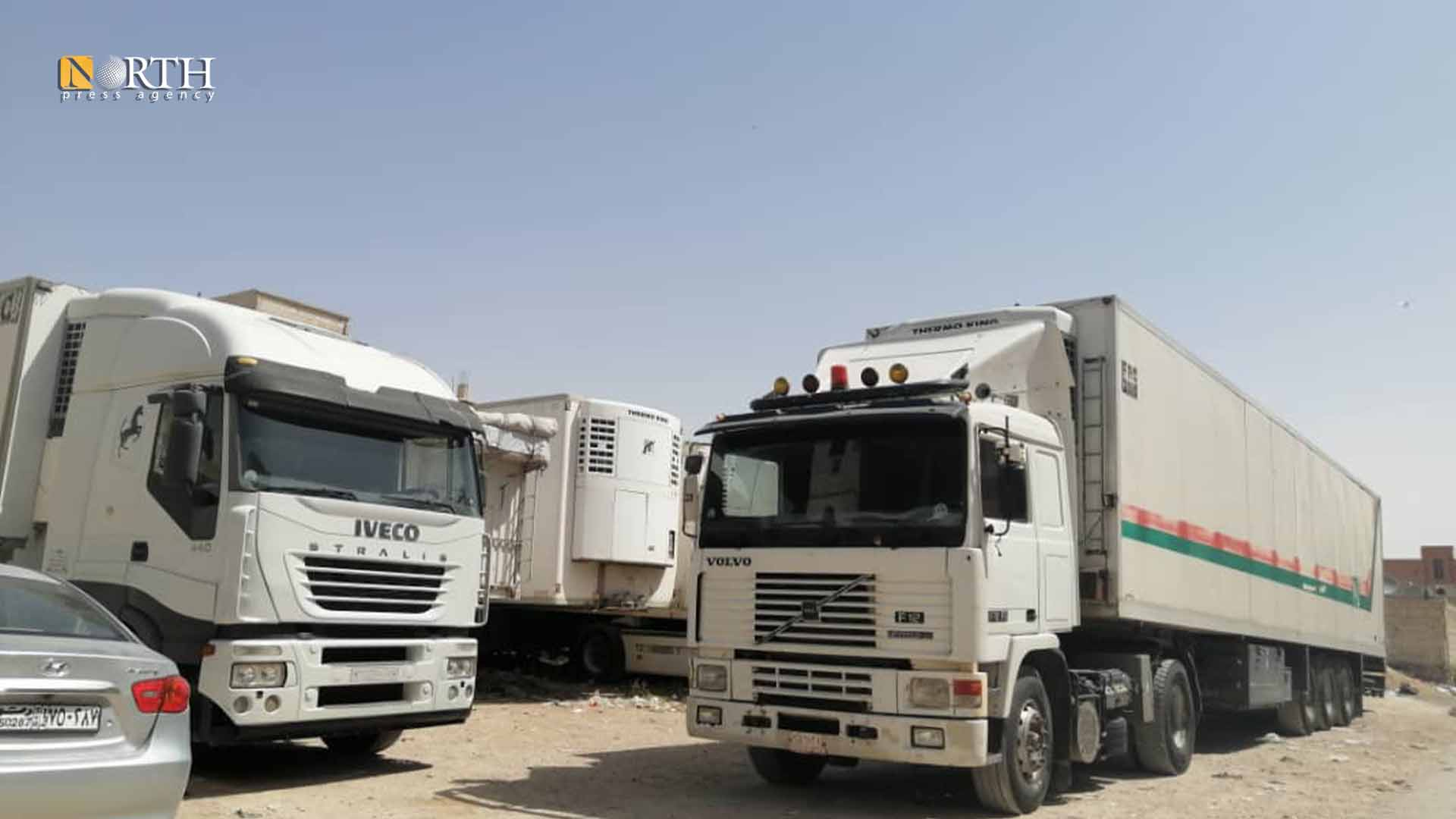 Syrian cargo cars waiting on Nasib crossing – North Press.
