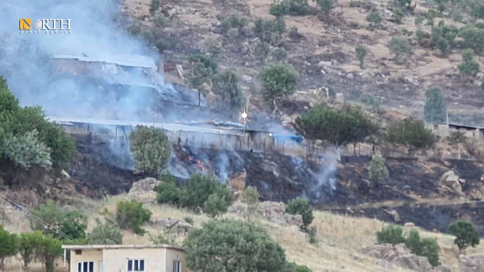 The scenes of Turkish bombing of villages in the Kurdistan Region of Iraq – North Press
