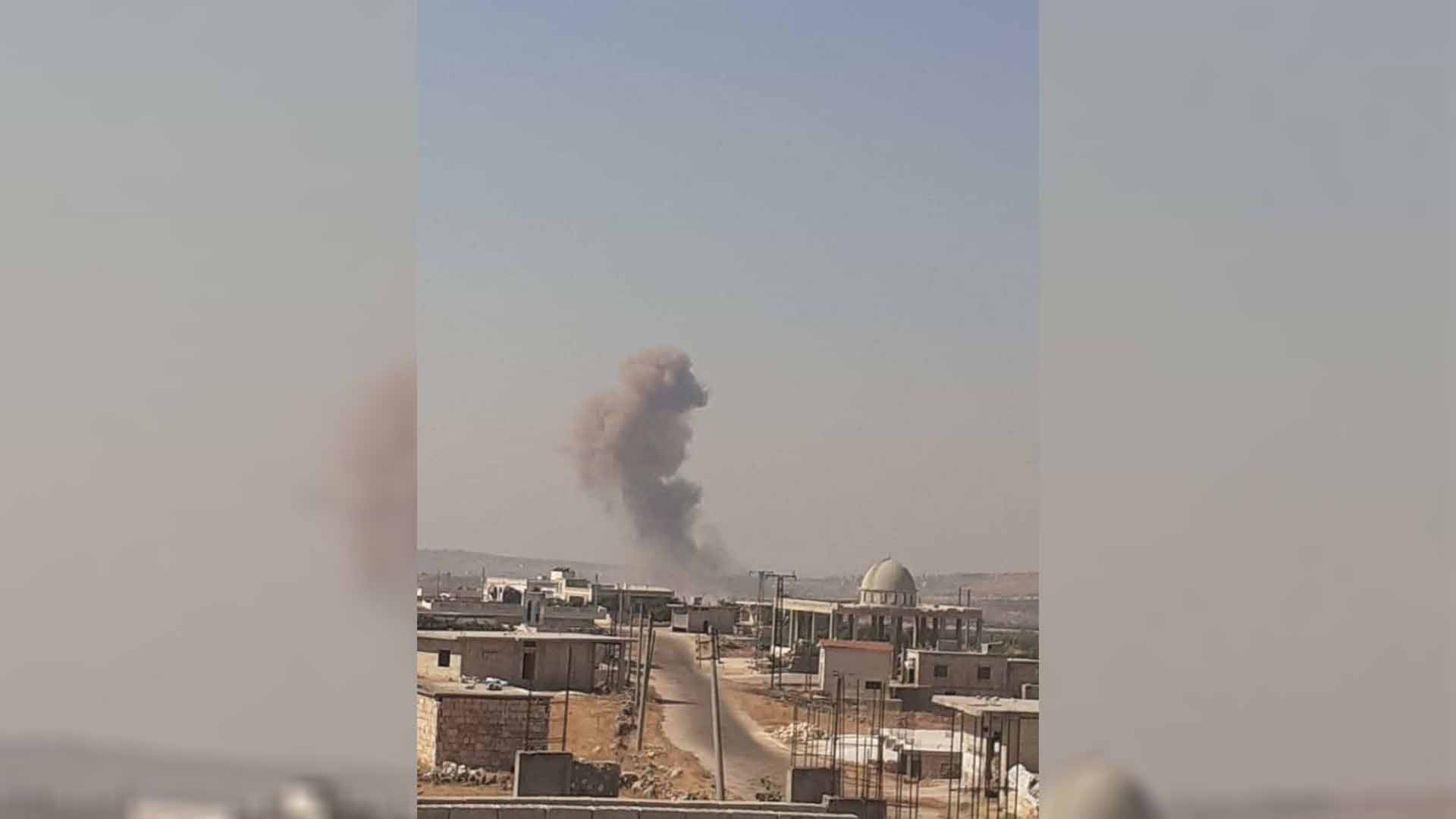 bombardment on the town of al-Bara, south of Idlib