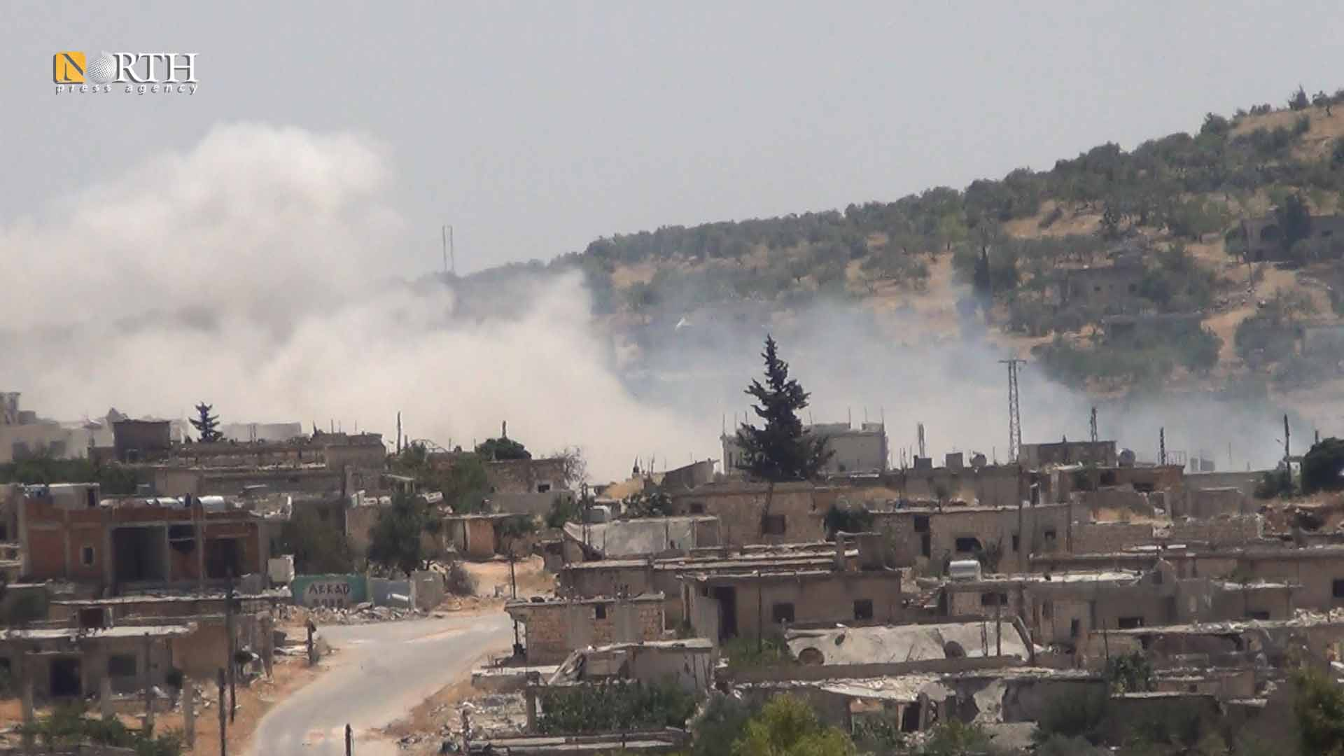 government bombing on the town of Kansafra, south of Idlib- North Press