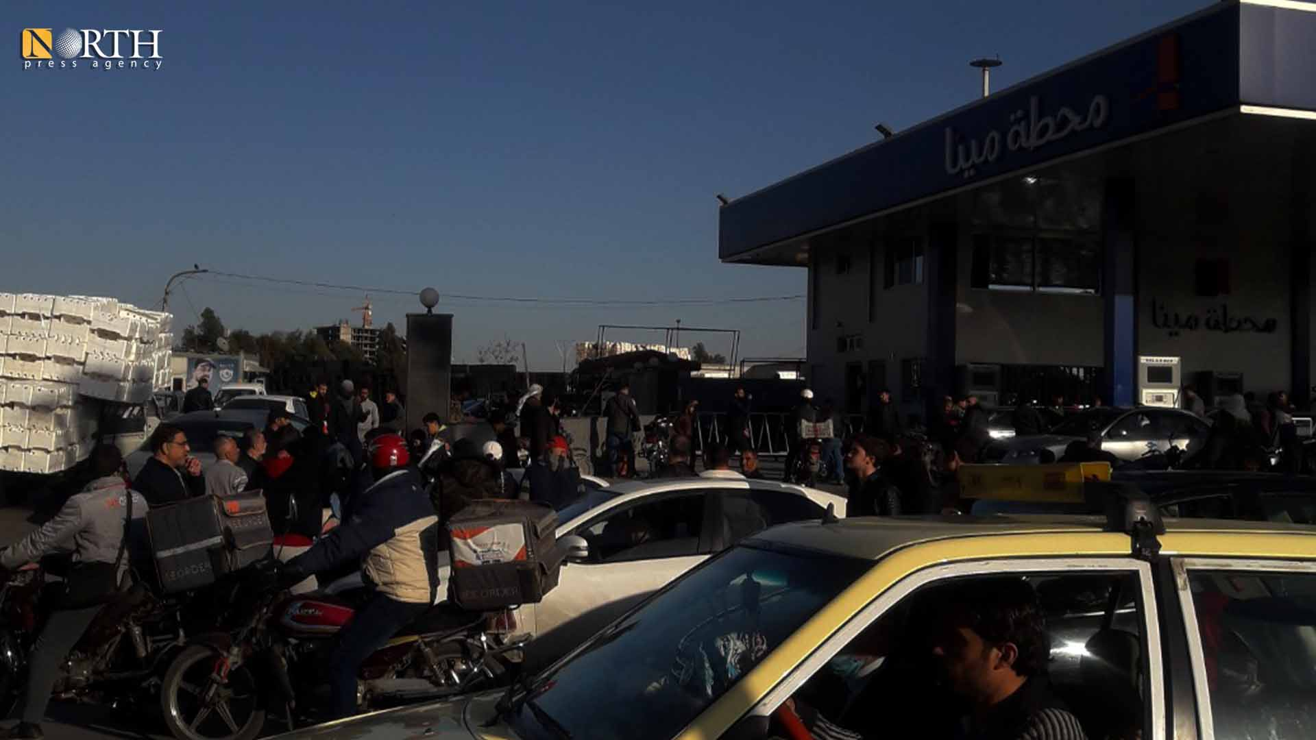 Congestion in front of a gas station in the city of Damascus – North Press