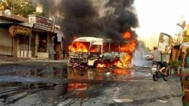 Photo of Casualty, wounded in bus explosion in Syria's Damascus