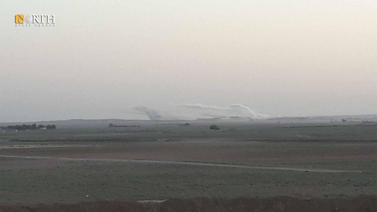 Turkish bombardment on al-Dardara village, Tel Tamr countryside – North Press/archive