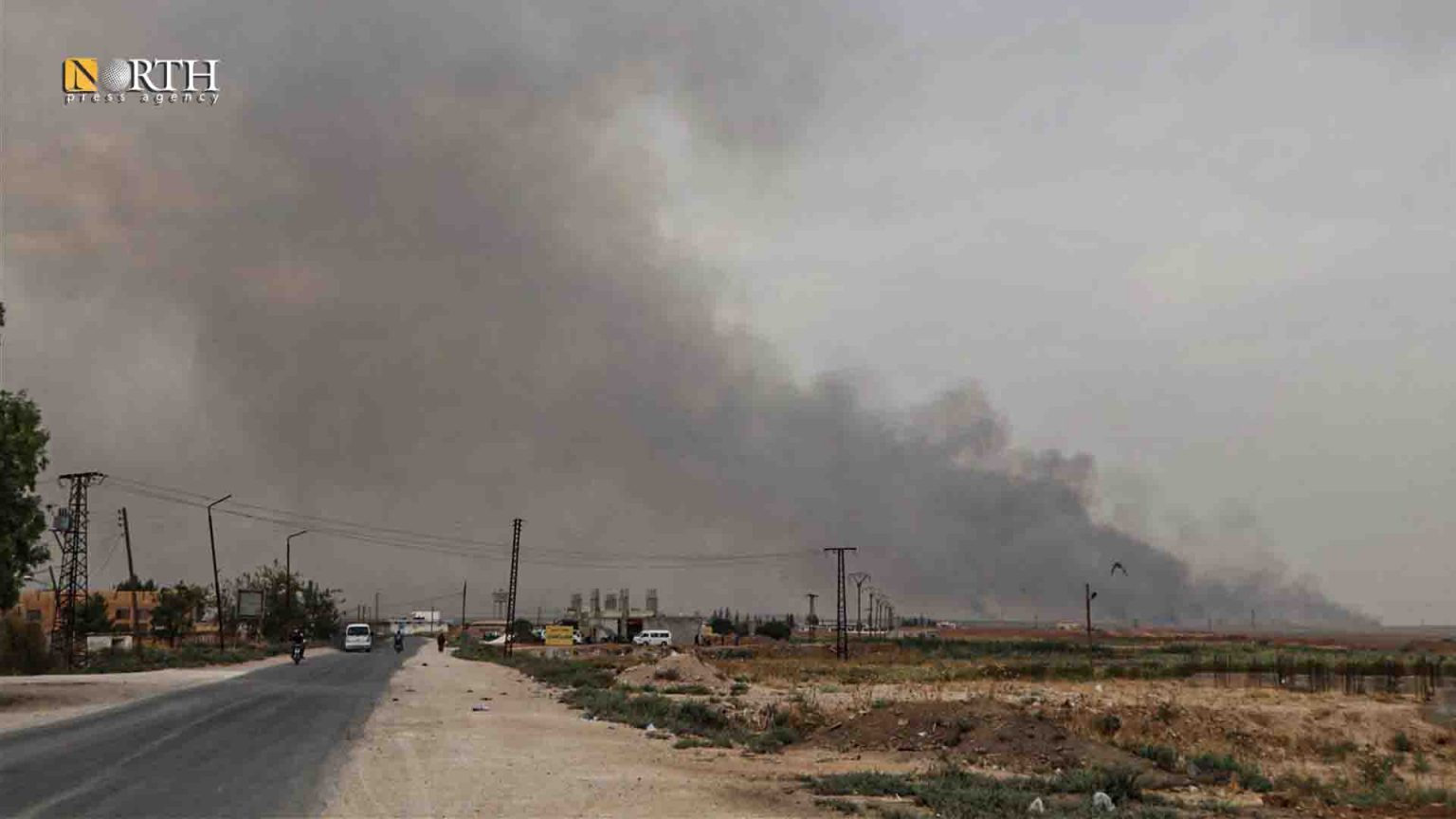 Turkish shelling on the northern countryside of Hasakah - North Press/archive