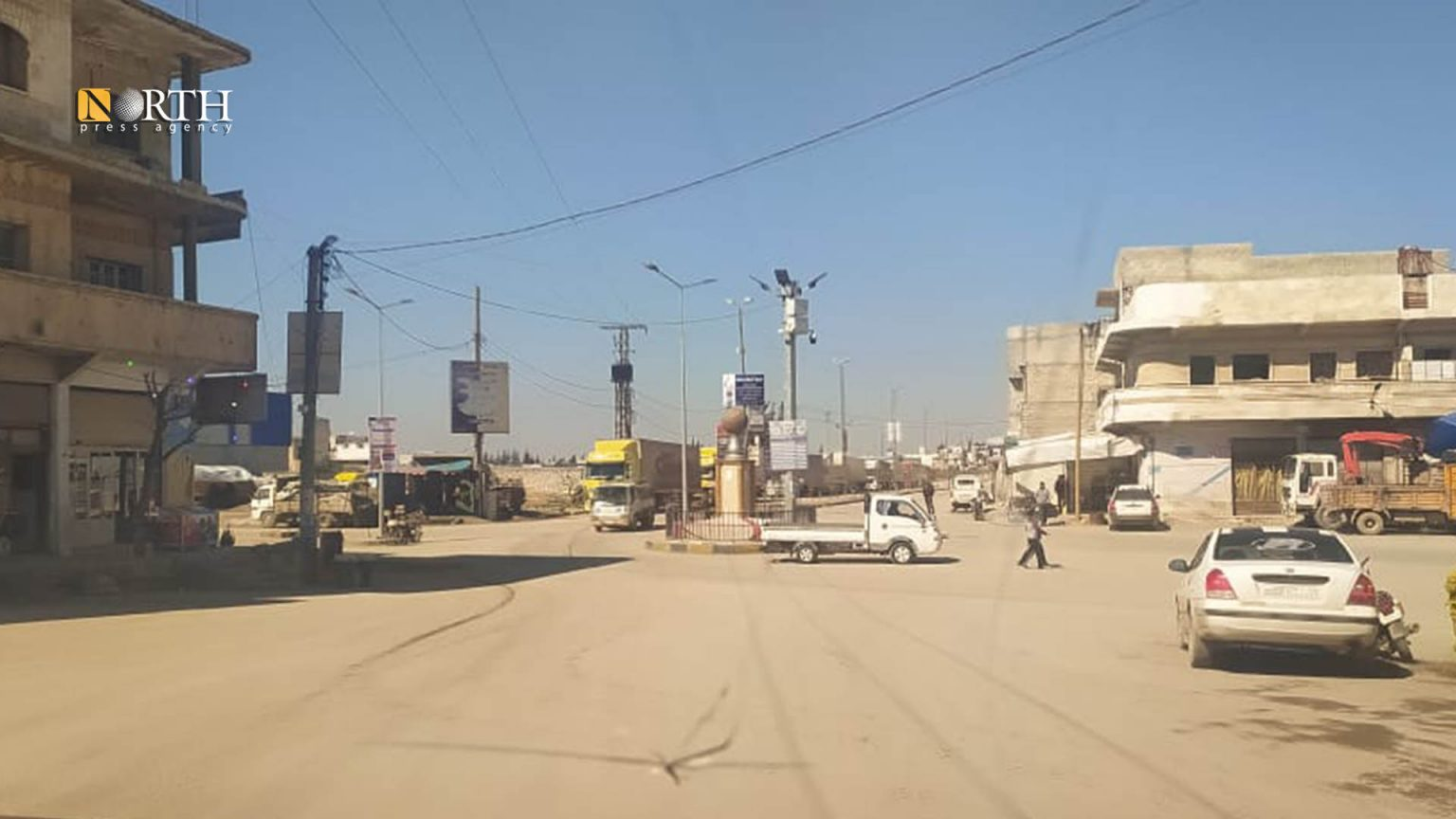 Al-Ra'i Roundabout in al-Bab city in the eastern countryside of Aleppo – North Press
