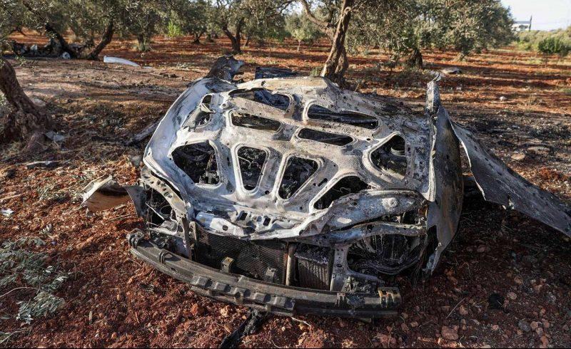 An American airstrike on a car in Idlib – Circulated
