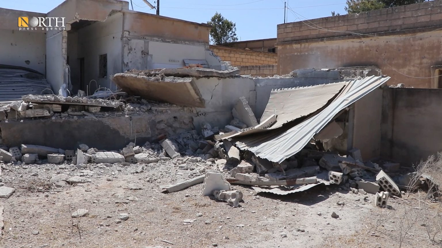 Destroyed houses in Tel Tawil village in the countryside of Tel Tamr town due to the Turkish bombardment – North Press