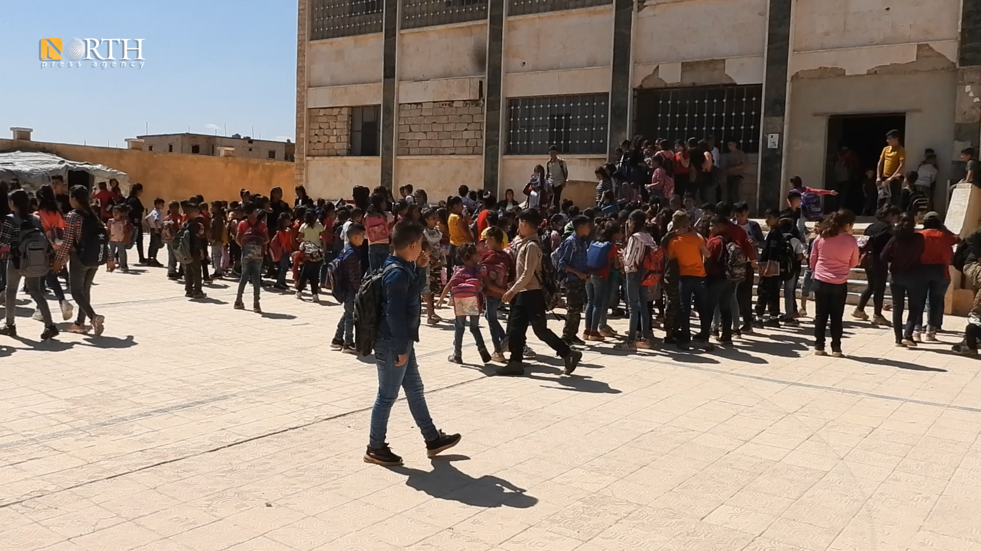 Displaced students from Afrin region in a school in the northern countryside of Afrin – North Press