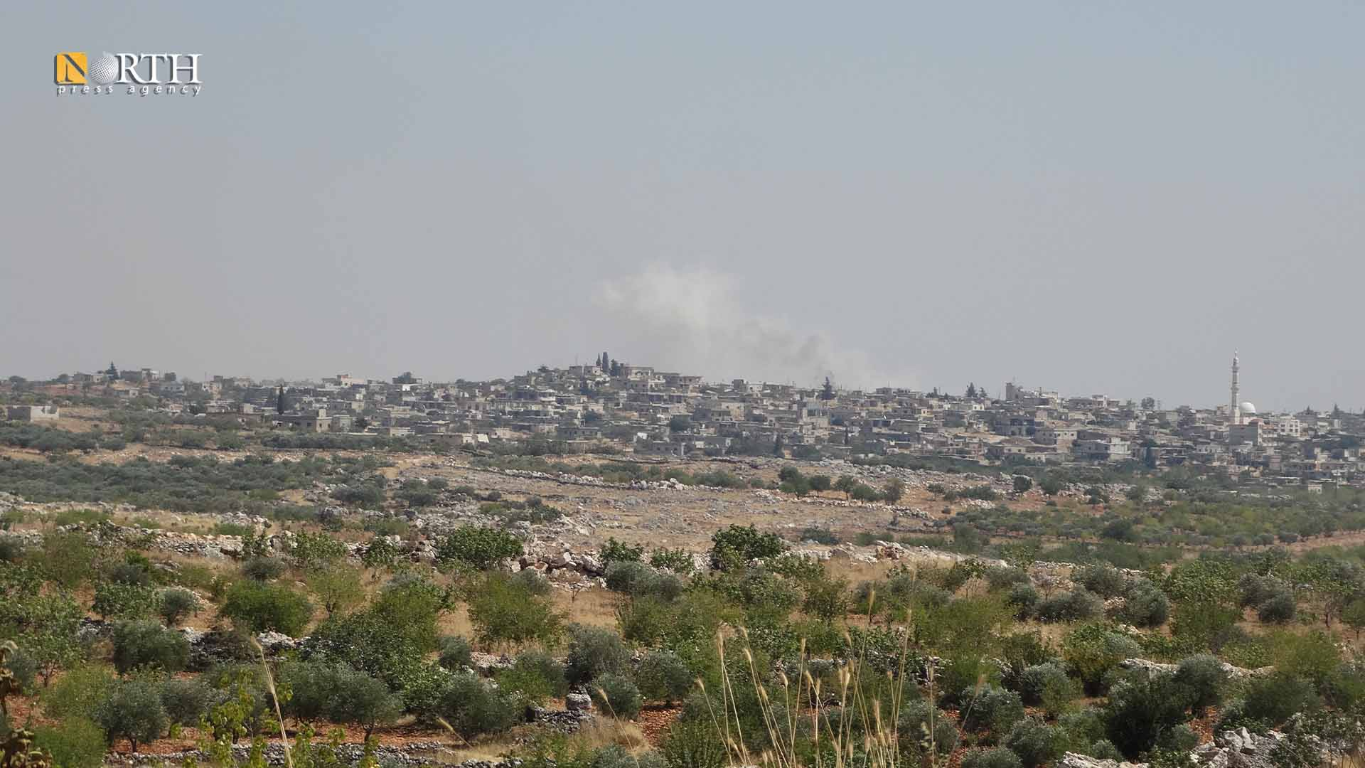 Government shelling on the town of Kansafra, south of Idlib- North Press