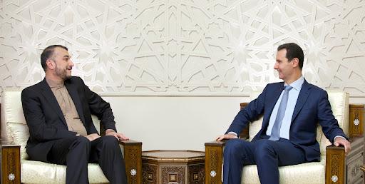 Iranian Foreign Minister Hossein Amir-Abdollahian and Syrian President Bashar al-Assad