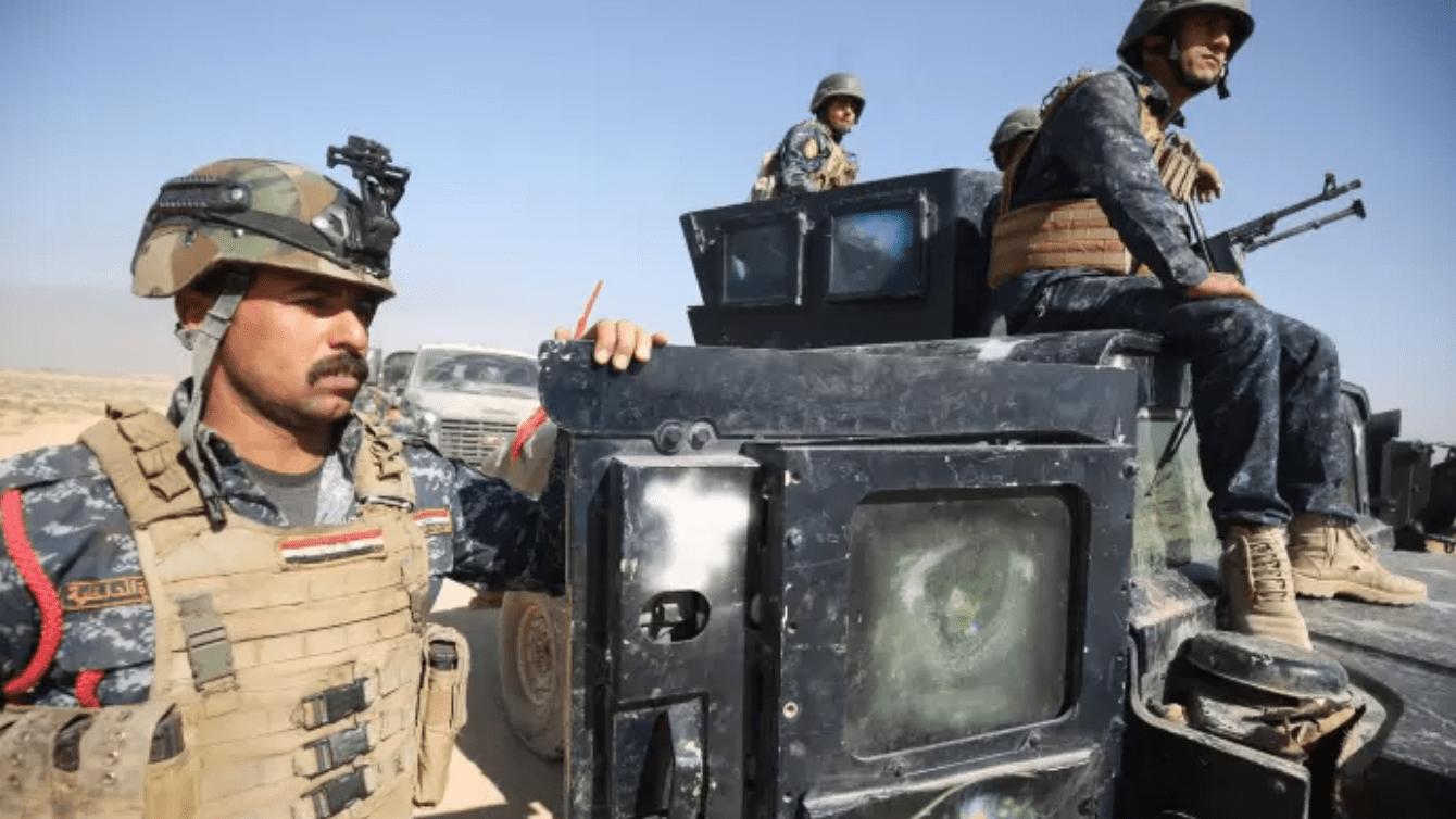 Iraqi troops in Nineveh in Iraq.