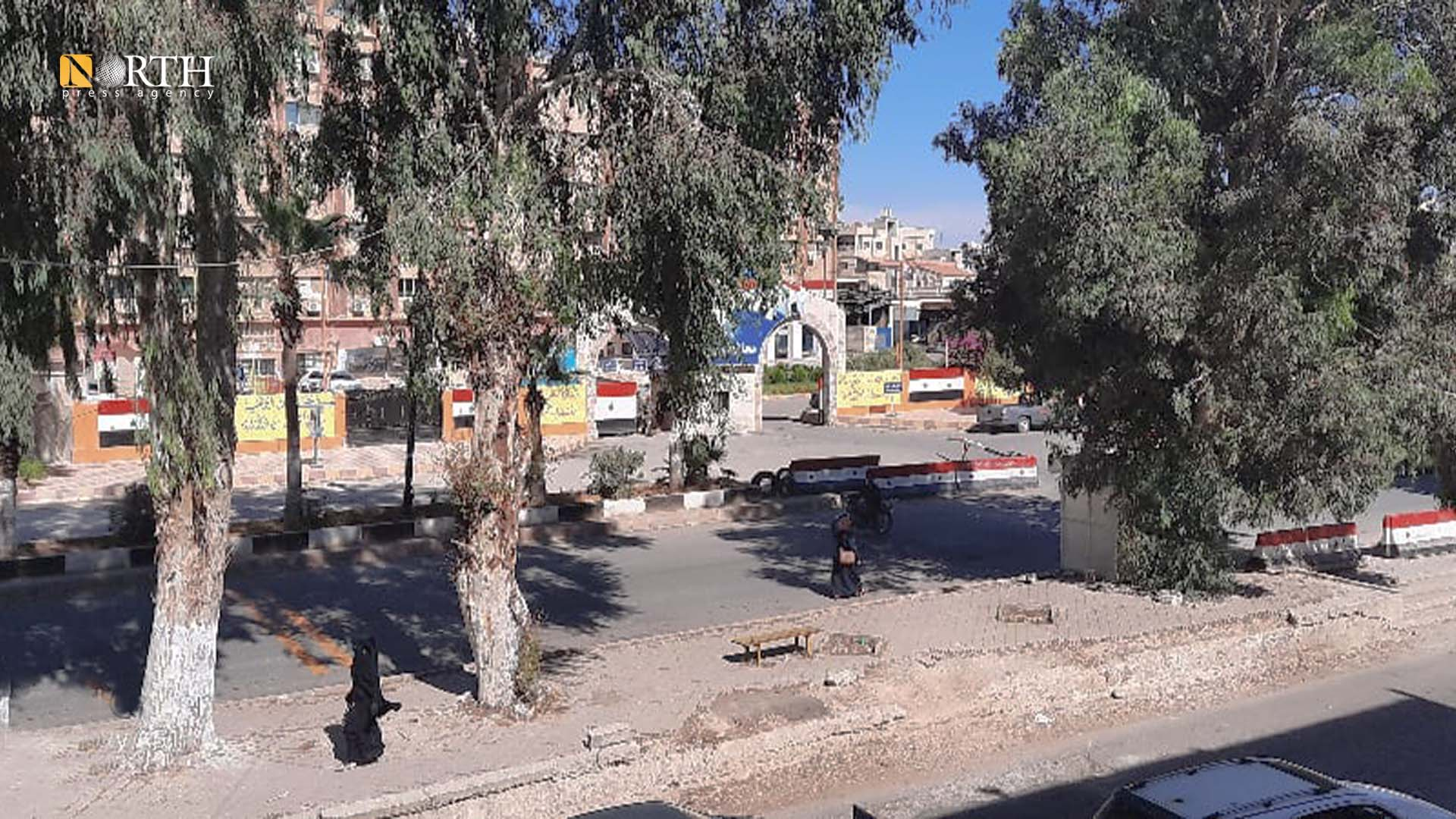 Main road in the town of Tafas in the western countryside of Daraa – North Press