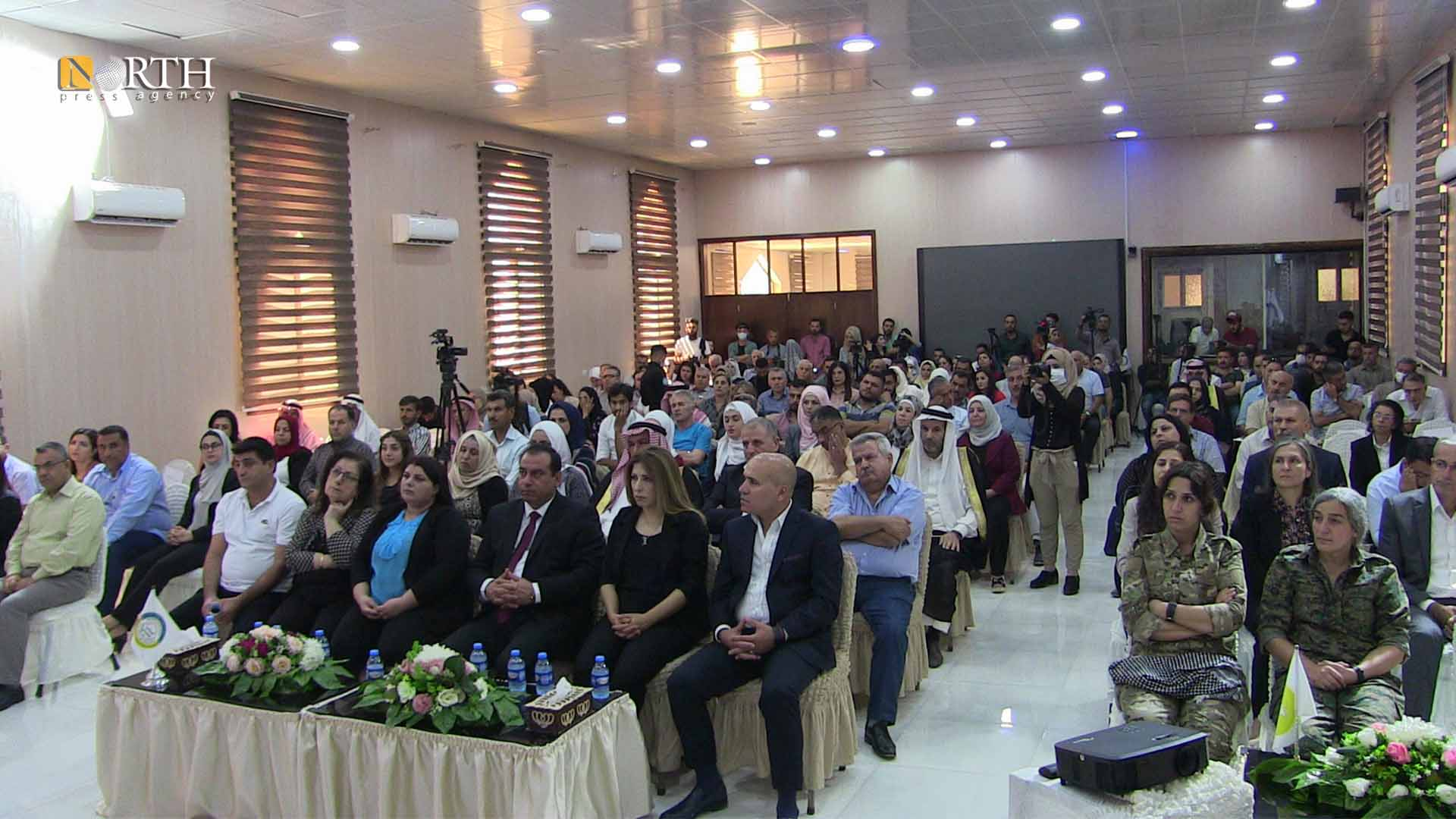 Participants in the celebration of the third anniversary of the establishment of the Autonomous Administration - North Press