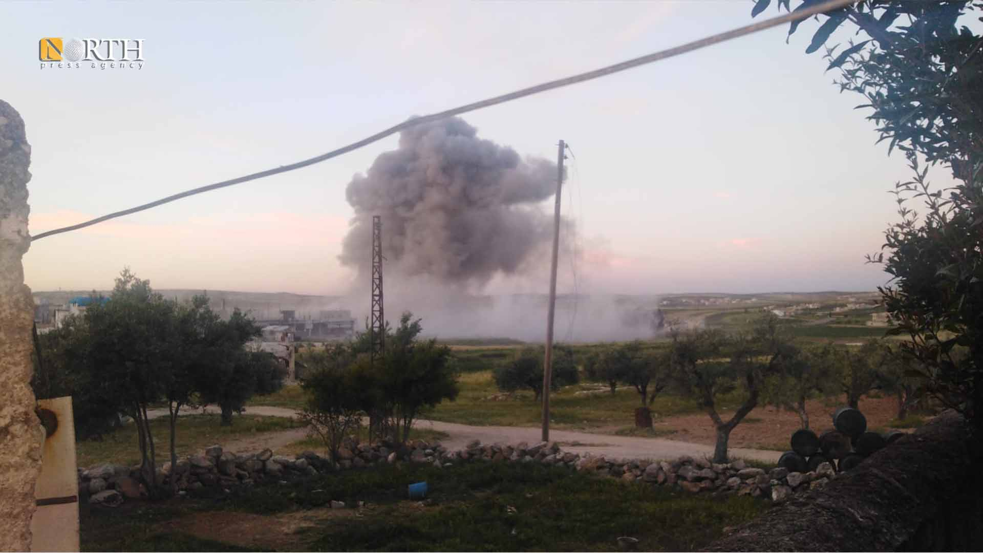 Previous Russian airstrike on the southern countryside of Idlib- North Press
