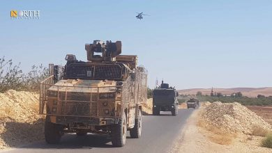 Photo of Russian, Turkish forces conduct patrol in Syria's western Kobani