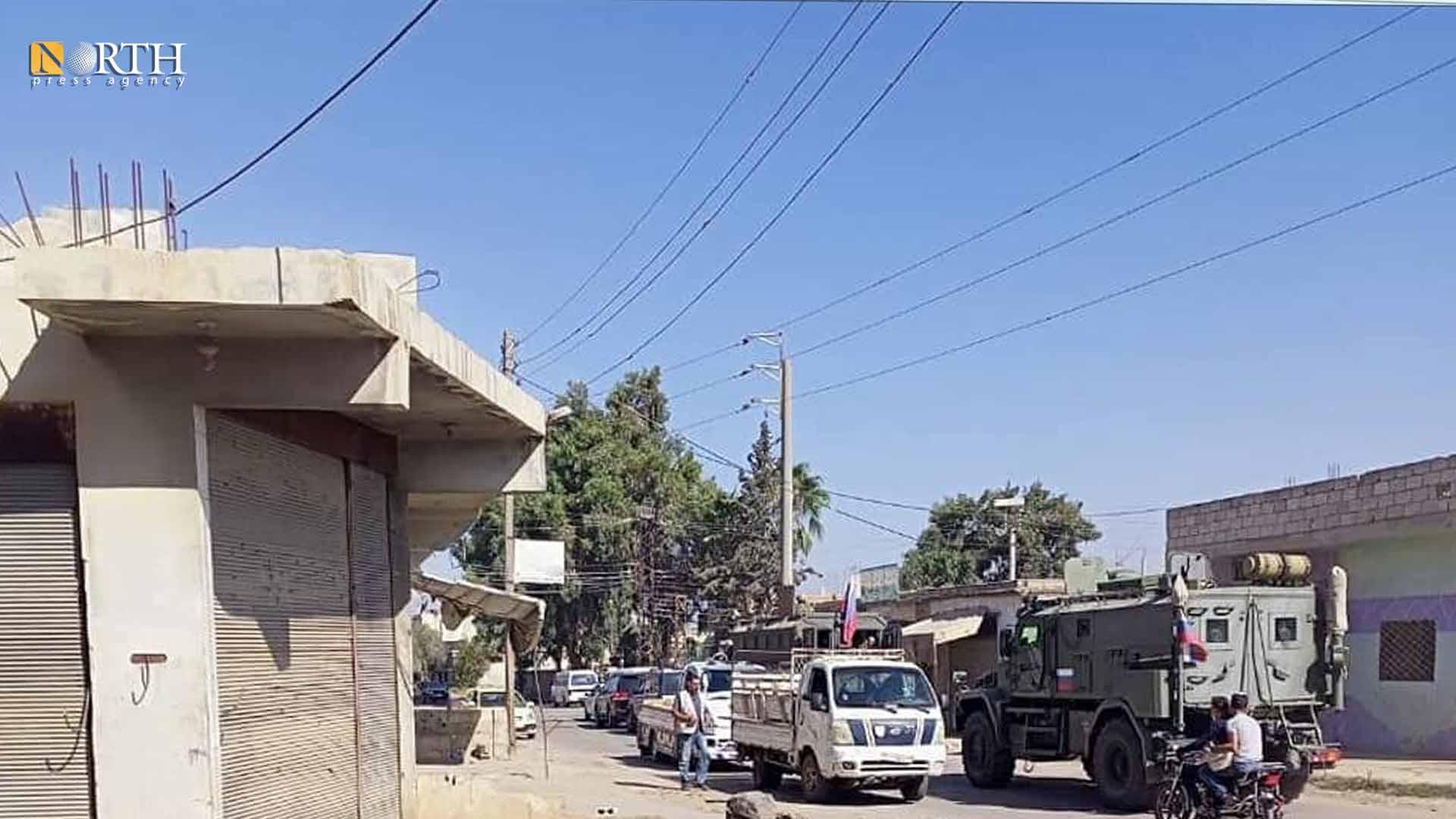Russian armored vehicles inside Tafas town, Daraa – North Press