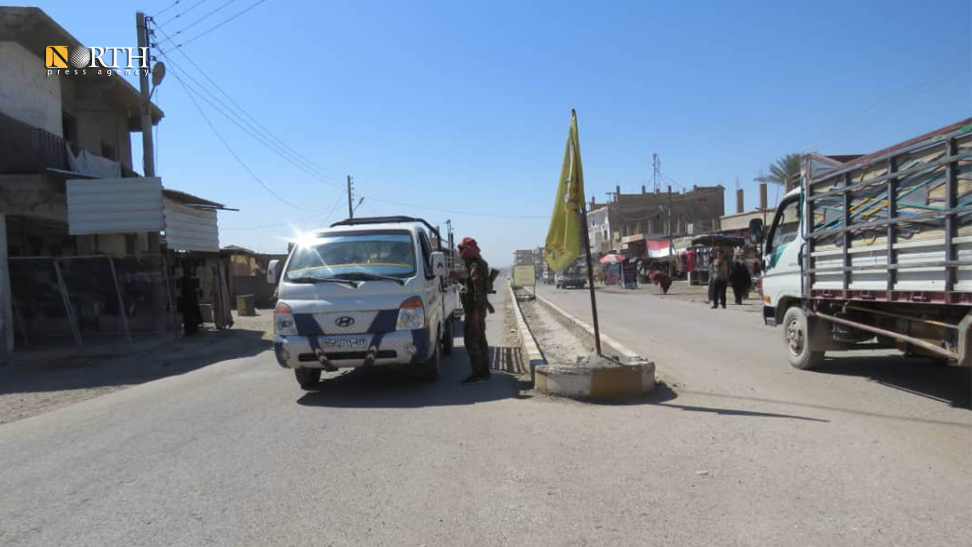 Syrian Democratic Forces' checkpoint in the town of Suwaydan, east of Deir ez-Zor – North Press.