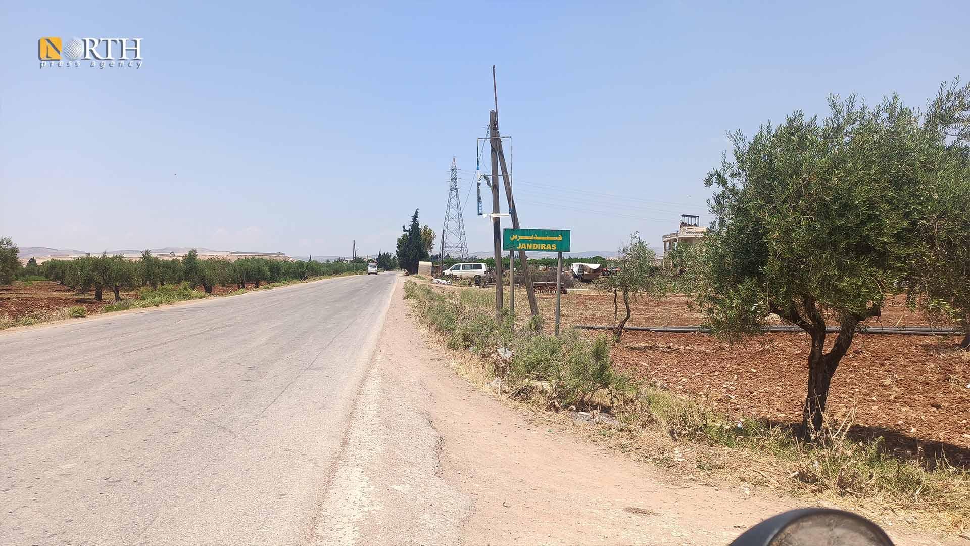 The entrance of Jindires district of Afrin region – North Press