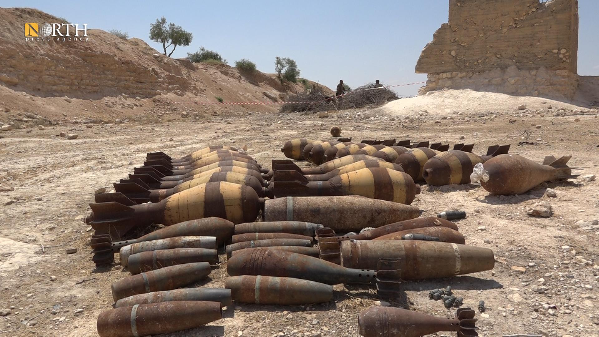 War remnants which were found in the west of Kobani – North Press