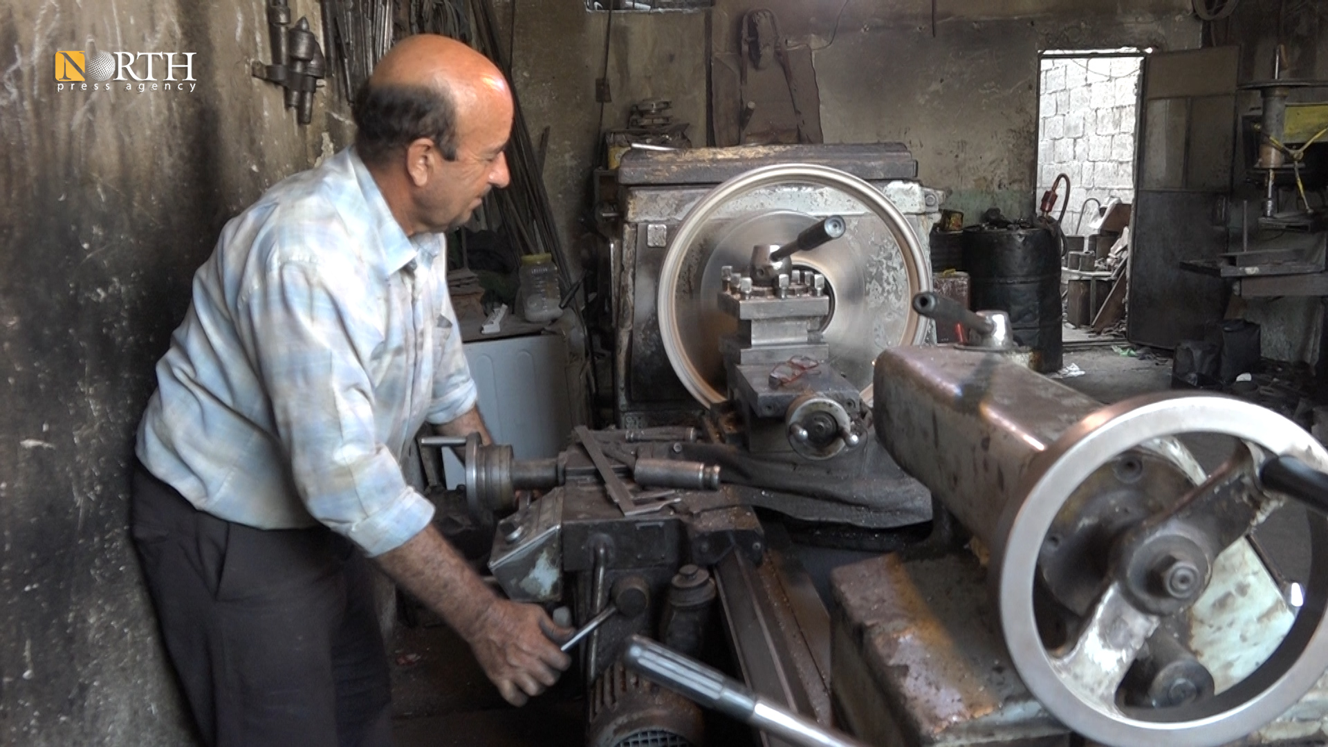an industrialist in the city of Manbij north east Syria- North Press
