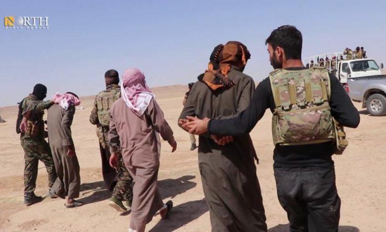 "Photo of SDF arrests ""Turkish intelligence agent"" east Syria"