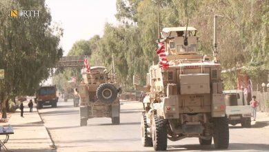 Photo of US forces patrol on M4 Highway, northeastern Syria